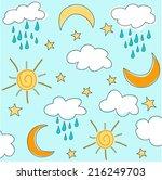 sunny seamless baby pattern   Shutterstock .eps vector #216249703