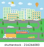 city town landscape life... | Shutterstock . vector #216266083