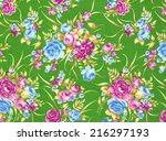 fragment of colorful retro... | Shutterstock . vector #216297193