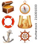 marine icons. | Shutterstock . vector #216301033