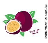 passion fruit  | Shutterstock .eps vector #216306853