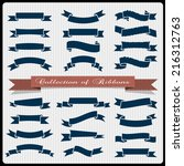 retro styled ribbons   banners. ... | Shutterstock .eps vector #216312763