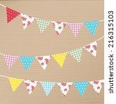 vintage bunting banner  | Shutterstock .eps vector #216315103