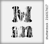 grunge letters | Shutterstock .eps vector #216317617