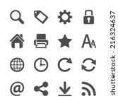 website menu icon set  vector... | Shutterstock .eps vector #216324637