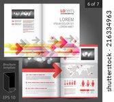 white vector brochure template... | Shutterstock .eps vector #216334963
