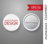 blank vector white badge with... | Shutterstock .eps vector #216349807