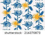 seamless texture with flowers... | Shutterstock .eps vector #216370873