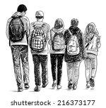 school students | Shutterstock . vector #216373177
