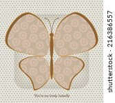 abstract floral butterfly.... | Shutterstock .eps vector #216386557