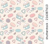 seamless pattern with pictures...   Shutterstock .eps vector #216387613