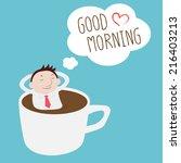 businessman thinking good... | Shutterstock .eps vector #216403213