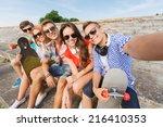 friendship  leisure  summer ... | Shutterstock . vector #216410353