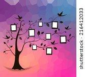 family tree design  insert your ... | Shutterstock .eps vector #216412033