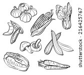 vegetables set | Shutterstock .eps vector #216425767