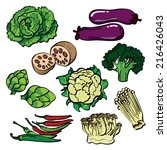 vegetable color set | Shutterstock .eps vector #216426043