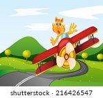 illustration of a tiger riding... | Shutterstock . vector #216426547
