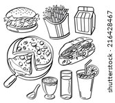 fast food collection | Shutterstock .eps vector #216428467