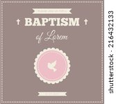 Baptism Invitation. Frame With...