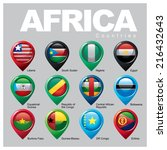 africa countries   part four | Shutterstock .eps vector #216432643