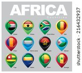 africa countries   part one | Shutterstock .eps vector #216432937