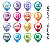education pointer icons | Shutterstock .eps vector #216461353
