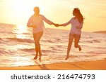 happy young romantic couple in... | Shutterstock . vector #216474793