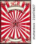 red circus retro poster.j a red ... | Shutterstock .eps vector #216476827