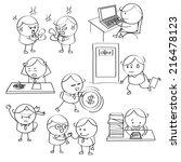 businessman illustrations | Shutterstock .eps vector #216478123