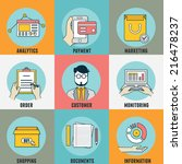 set of flat concept icons for... | Shutterstock .eps vector #216478237