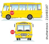 school bus isolated. school bus ... | Shutterstock .eps vector #216483187