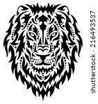 head of a lion. | Shutterstock .eps vector #216493537