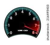 tachometer  revolution counter  ...   Shutterstock .eps vector #216495403
