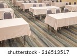 empty classroom with many... | Shutterstock . vector #216513517
