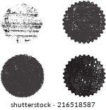 set of grunge stamp  | Shutterstock .eps vector #216518587