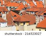 roofs of old prague  czech... | Shutterstock . vector #216523027