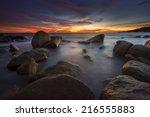 sunset seascape   Shutterstock . vector #216555883