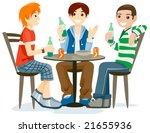 drinking   vector | Shutterstock .eps vector #21655936