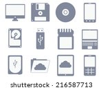 vector icon set of different... | Shutterstock .eps vector #216587713