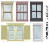 five window vector illustrations   Shutterstock .eps vector #21660319