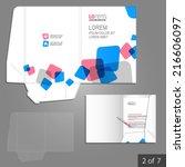 white folder template design... | Shutterstock .eps vector #216606097
