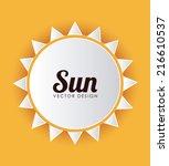 summer design over yellow... | Shutterstock .eps vector #216610537