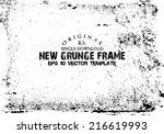 design template.abstract grunge ... | Shutterstock .eps vector #216619993