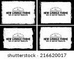 design template.abstract grunge ... | Shutterstock .eps vector #216620017