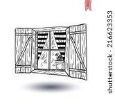 window icon. vector... | Shutterstock .eps vector #216623353