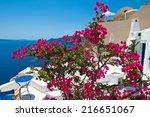idyllic patio on the island of... | Shutterstock . vector #216651067