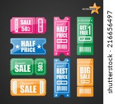 vector sale tickets. | Shutterstock .eps vector #216656497