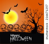 happy halloween | Shutterstock .eps vector #216671257