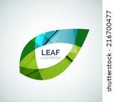 leaf logo  concept  branding...   Shutterstock .eps vector #216700477