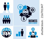 business people. business icons. | Shutterstock .eps vector #216701347